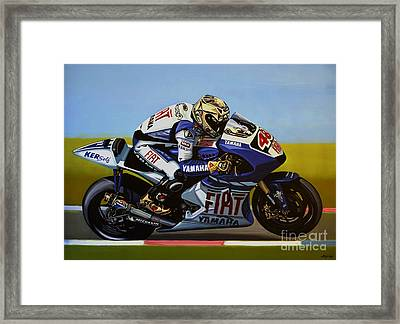 Jorge Lorenzo Framed Print by Paul Meijering