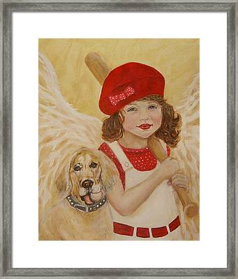Joscelyn And Jolly Little Angel Of Playfulness Framed Print by The Art With A Heart By Charlotte Phillips