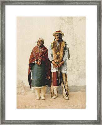 Jose Jesus And Wife Framed Print by Underwood Archives