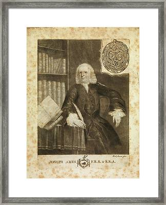 Joseph Ames Framed Print by Middle Temple Library