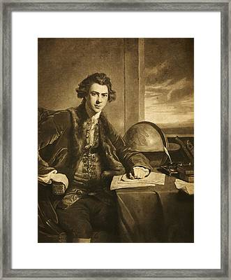 Joseph Banks, English Naturalist Framed Print by Science Photo Library