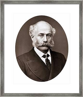 Joseph Bazalgette Framed Print by Universal History Archive/uig