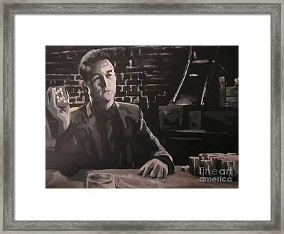 Joseph Gordon Levitt As Johnny From Sin City Two Framed Print by John Malone