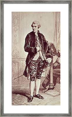 Joseph Haydn  Framed Print by Edouard Jean Conrad Hamman