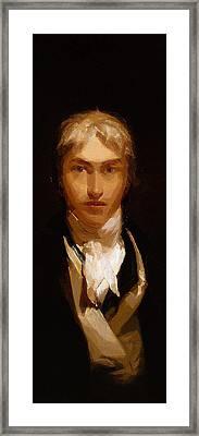Joseph Mallord William Turner Portrait Framed Print by Celestial Images