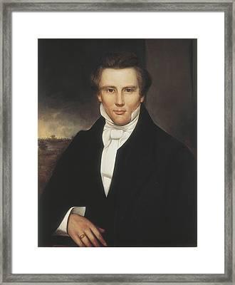 Joseph Smith. Copy After Adrian Lamb Framed Print by Everett