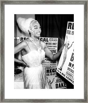 Josephine Baker Framed Print by Retro Images Archive