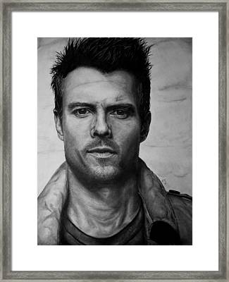 Josh Duhamel Framed Print by Ryan Jacobson
