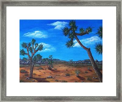 Joshua Tree Desert Framed Print by Anastasiya Malakhova