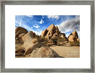 Joshua Tree National Park Inselberg Formations Framed Print by Charline Xia