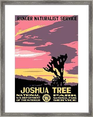 Joshua Tree National Park Vintage Poster Framed Print by Eric Glaser
