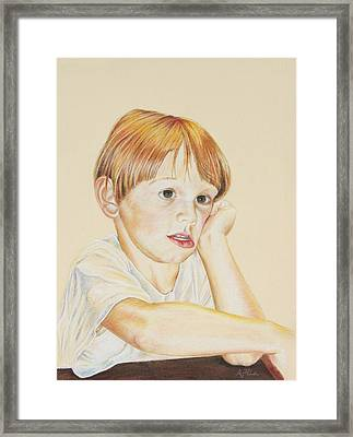 Joshy Framed Print by Arthur Fix