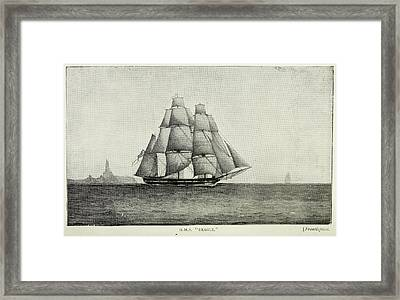 Journals Of Charles Darwin Framed Print by British Library