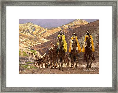 Journey Of The Magi Framed Print by Tissot