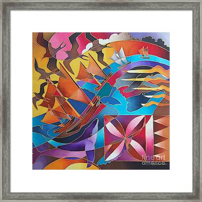 Journey Of The Vaka II Framed Print by Maria Rova