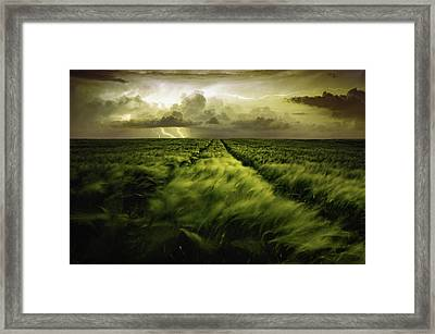 Journey To The Fierce Storm Framed Print by Sona Buchelova