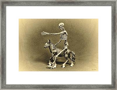 Journey With An Ass Framed Print by Jeff  Gettis