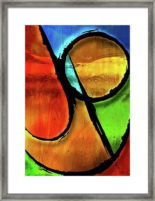 Joy-abstract Framed Print by Shevon Johnson