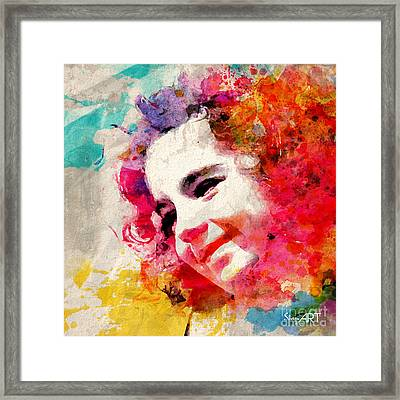 JOY Framed Print by Donika Nikova