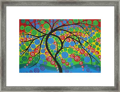 Joy Re-imagined Framed Print by Cathy Jacobs
