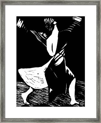 Joyful Dance Framed Print by Gun Legler