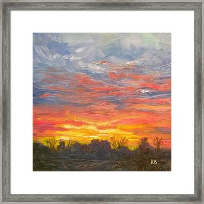 Joyful Sunset Framed Print by Robie Benve