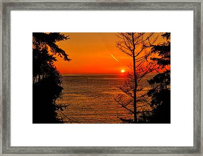 Juan De Fuca Sunset Framed Print by Greg Norrell