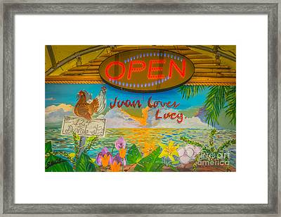 Juan Loves Lucy Key West - Hdr Style Framed Print by Ian Monk