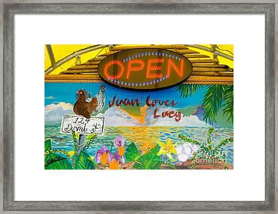 Juan Loves Lucy Key West  Framed Print by Ian Monk