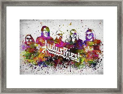 Judas Priest In Color Framed Print by Aged Pixel
