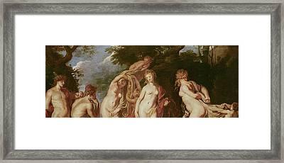 Judgement Of Paris Framed Print by Peter Paul Rubens