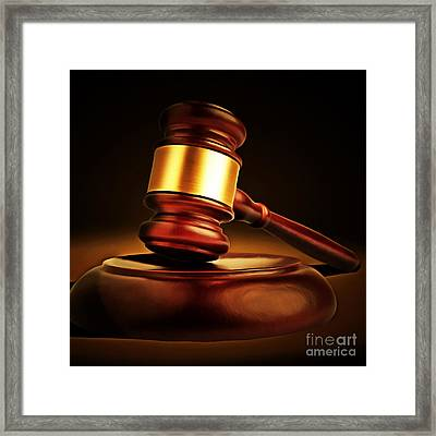 Judges Gavel 20150225 Square Framed Print by Wingsdomain Art and Photography