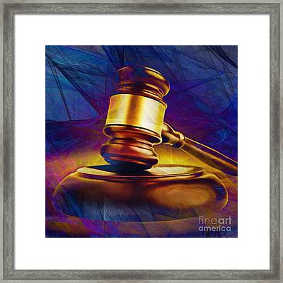 Judges Gavel 20150225 V2 Square Framed Print by Wingsdomain Art and Photography