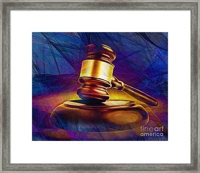 Judges Gavel 20150225 V2 Framed Print by Wingsdomain Art and Photography