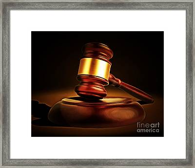 Judges Gavel 20150225 Framed Print by Wingsdomain Art and Photography