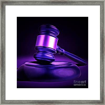 Judges Gavel 20150225m118 Square Framed Print by Wingsdomain Art and Photography