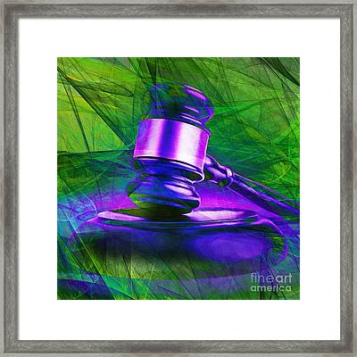 Judges Gavel 20150225m130 V2 Square Framed Print by Wingsdomain Art and Photography