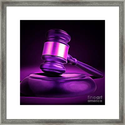 Judges Gavel 20150225m90 Square Framed Print by Wingsdomain Art and Photography