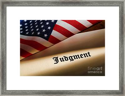 Judgment Framed Print by Olivier Le Queinec