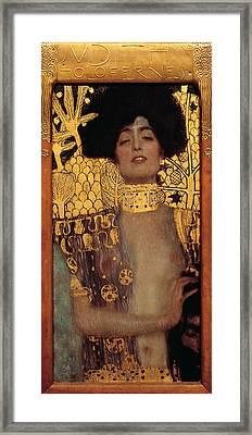 Judith Framed Print by Gustive Klimt