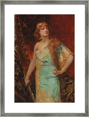 Judith Framed Print by Jean Joseph Benjamin Constant