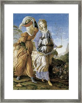 Judith With The Head Of Holofernes, C.1469-70 Tempera On Panel Recto Of 403008 Framed Print by Sandro Botticelli