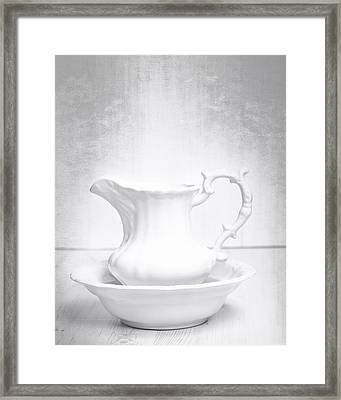 Jug And Bowl Framed Print by Amanda And Christopher Elwell