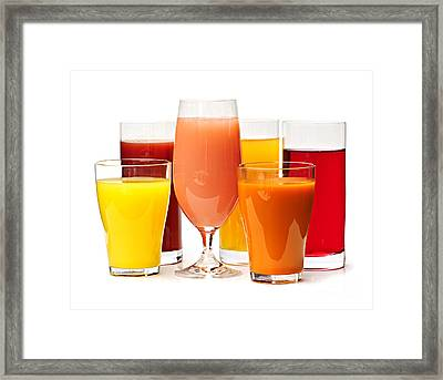 Juices Framed Print by Elena Elisseeva