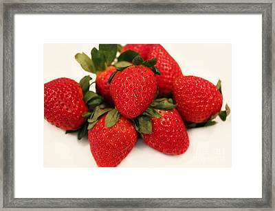 Juicy Strawberries Framed Print by Barbara Griffin