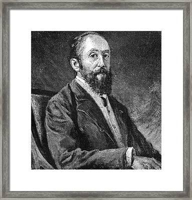 Jules Claretie (1840-1913) Framed Print by Granger