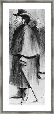 Jules Guesde Framed Print by Alphonse Leon Noel
