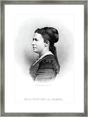 Julia Dent Grant (1826-1902) Framed Print by Granger