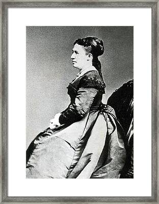 Julia Grant, First Lady Framed Print by Science Source