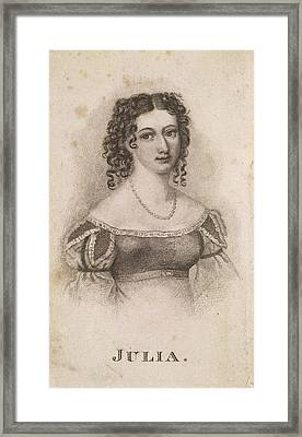 Julia Johnstone Framed Print by British Library